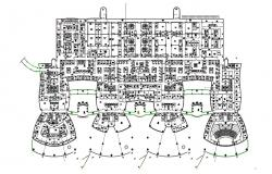 Hospital Architecture design and planning DWG file