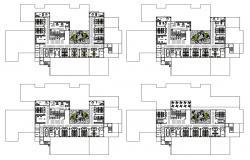 Hospital Bedroom Plan DWG File