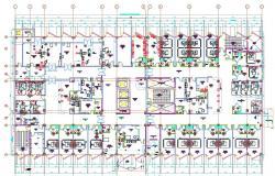 Hospital Building Design Layout Architecture CAD Plan