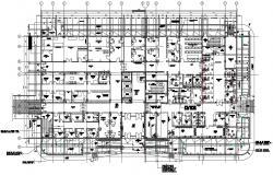 Hospital Building Ground Floor Plan Download AutoCAD File
