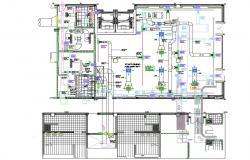 Hospital Building HVAC Duct Design Layout Plan