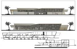 Hospital Elevation Design CAD File