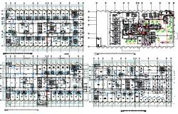 Hospital Floor Sanitary And Vent Piping Layout Plan