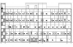Hospital Front Elevation Design DWG File