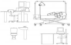 Hospital Furniture Blocks DWG Free Download