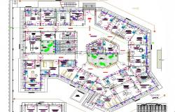 Hospital Layout plan dwg file