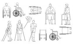 Hospital Patient CAD Blocks