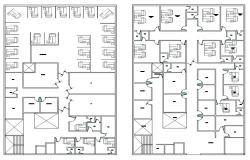 Hospital Plan Drawing AutoCAD File
