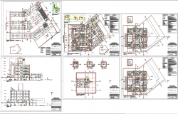 Hospital architecture master plan and detail
