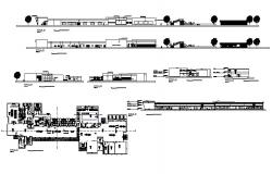 Hospital building all sided elevation, section and distribution plan details dwg file