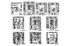 Hospital building detail plan 2d view layout file
