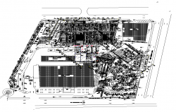 Hospital building detail plan view layout autocad file