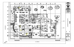 Hospital building plan 2d view detail layout autocad file