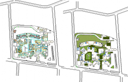 Hospital construction plan architecture Lay-out design