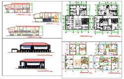 Hospital design cad drawing detail