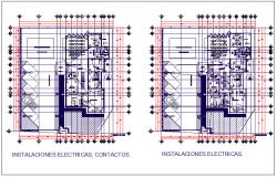 Hospital floor electrical plan layout detail view dwg file