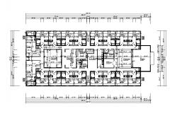 Hospital floor layout plan and framing plan cad drawing details dwg file