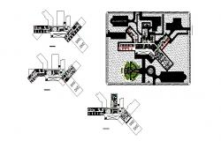 Hospital floor plan and distribution plan cad drawing details dwg file