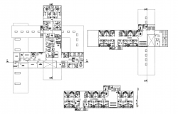 Hospital layout in AutoCAD