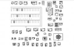 Hospital matrices, departments, patient rooms plan and auto-cad details dwg file