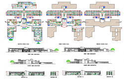 Hospital plan & Elevation design