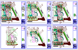 Hospital plan  design view with garden view dwg file