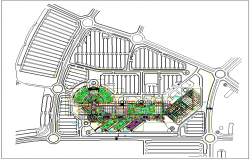 Hospital plan layout design dwg file
