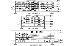 Hospital section detail dwg file