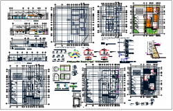 Hospital structure plan & member section plan detail view dwg file