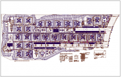 Hospital structure plan detail view dwg file