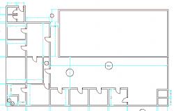 Hospital structure print details dwg file