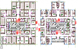 Hospital with 260 bed floor plan details dwg file