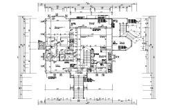 Hostel  building plan detail layout autocad file