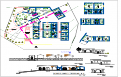 Hostel Design with Plan and Elevation dwg file