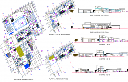 Hostel Project detail dwg file