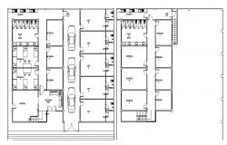 Hostel Room Design Plans With Basic Furniture AutoCAD File Free Download