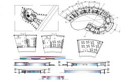 Hostel project CAD Drawing