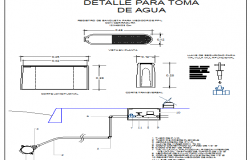 Hot water reservoir tank with bench details dwg file