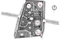 Hotel Architecture plan lay-out in autocad files.