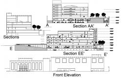 Hotel Building Plan And Design DWG File