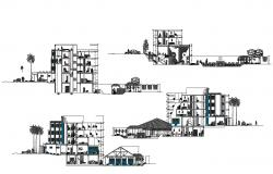 Hotel Building Section Plan