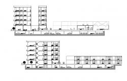Hotel Building Section Plan AutoCAD File