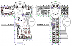 Layout plan of hotel project dwg file