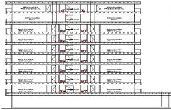 Hotel Design and Elevation Plan dwg file