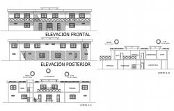 Hotel Elevation CAD Drawing Download