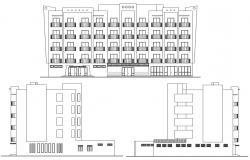 Hotel Elevation Plan AutoCAD File
