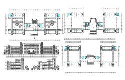 Hotel Floor Plan CAD Drawing