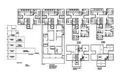 Hotel Joana Darc distribution layout plan cad drawing details dwg file