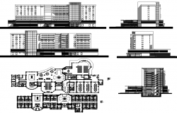 Hotel Layout plan and Elevation Design