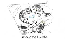 Hotel Mary distribution layout plan cad drawing details dwg file